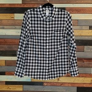 J. Crew The Perfect Shirt gingham button down top